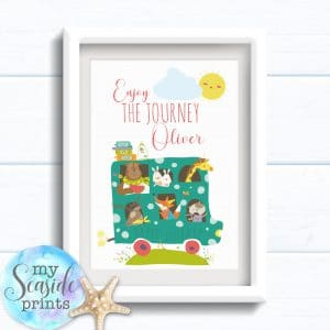 Personalised Boys Name Room Print - Enjoy the journey