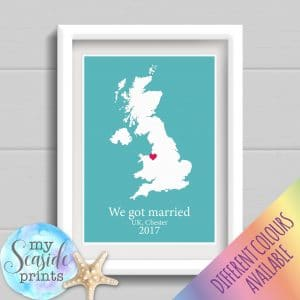 Personalised Map Print with location
