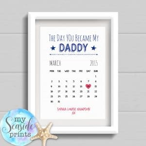 Personalised Father's Day Print - The day you became my Daddy