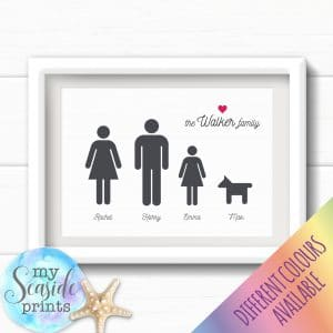 Personalised Family Print - Family line up