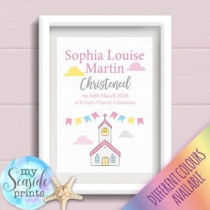 Christening Print for Girls christening gift or present