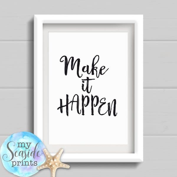 Personalised Graduation Print - Make it happen