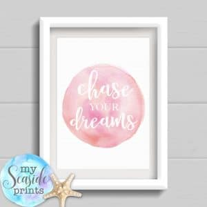 personalised graduation print chase your dreams