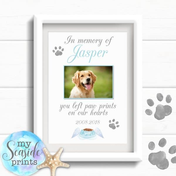 pet dog memorial print personalised
