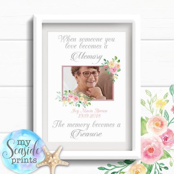 Personalised Memorial Print