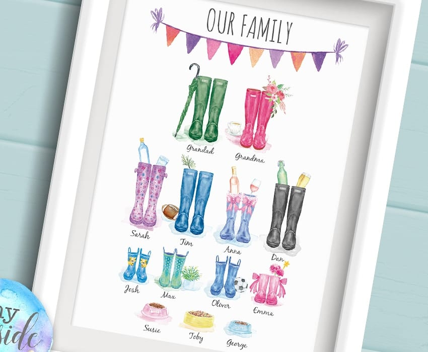 wellington boots prints
