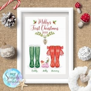 Baby's First Christmas Print