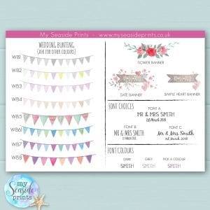 bunting for wellington boot personalised prints