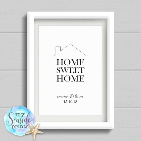 Home Sweet Home Personalised Housewarming or New Home Gift