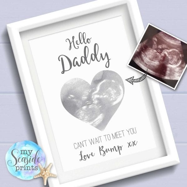 Baby scan personalised print for Daddy from bump