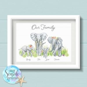 Elephant Family Prints