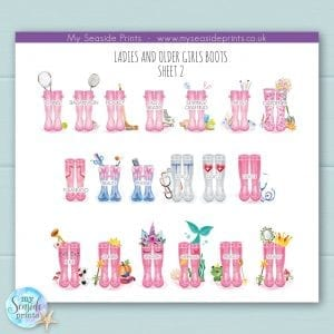 extra ladies welly boot options for family welly boot prints