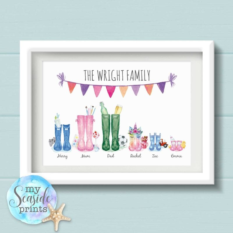 Family & Welly Boot Prints