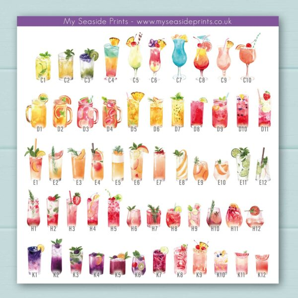 extra drinks for family print