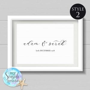 personalised name print style 2