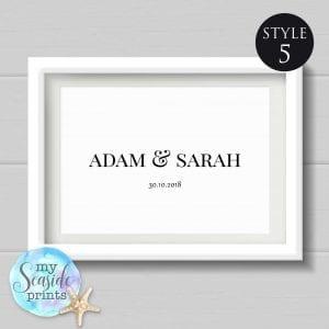 personalised name print style 5