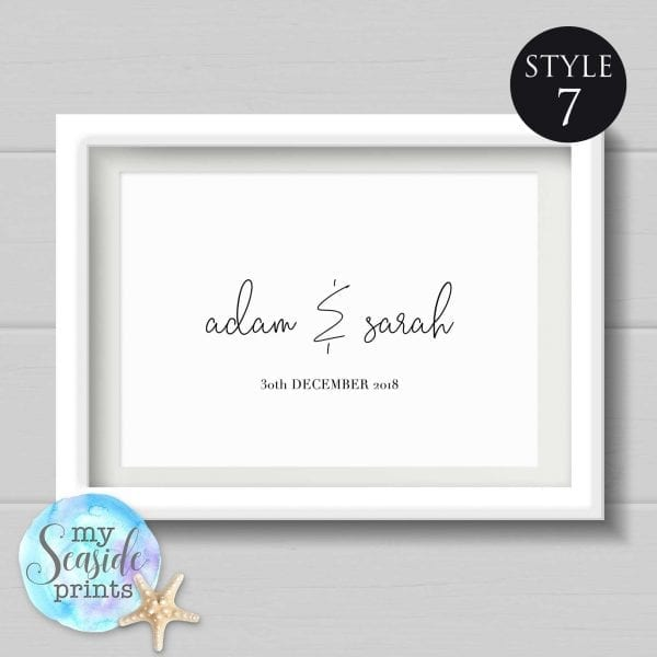 personalised name print style 7
