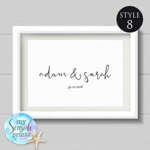 personalised name print style 8