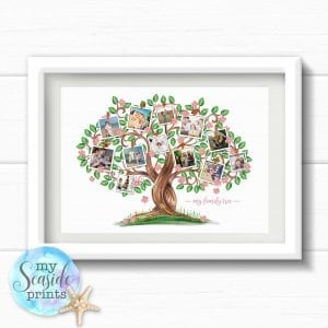 Personalised Family Tree Print with Photos