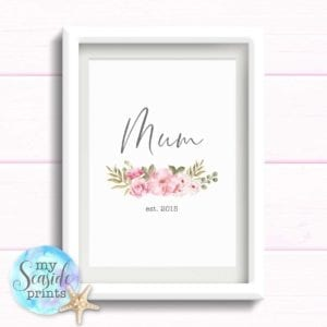 Floral Mothers Day print for Mom