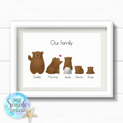 Brown Bear Family Print