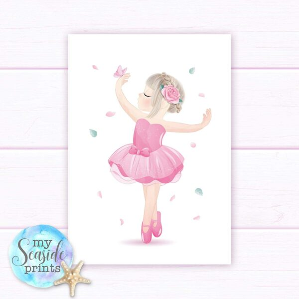 Set of 3 Ballerina prints with name