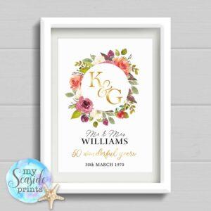 Golden Wedding Anniversary Print